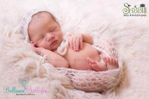 Newborn Mohair Bonnets und Deckchen