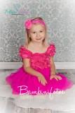Satin-Chiffon-Kleid HOTPINK ca. 1-3 Jahre