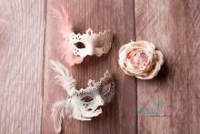 NEU!!!! Newborn Mini Masken in weiß ODER babyrosa