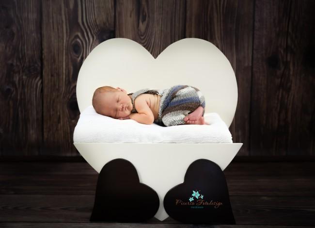 neu herz mit kleinen herzchen creme dunkel braun posingstuhl newborn kleinkind bellamia. Black Bedroom Furniture Sets. Home Design Ideas