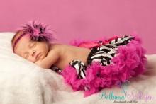 Traumhafter Baby-TUTU in zebra-hotpink