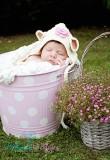 Häkelmütze Newbornmütze OSTERLAMM