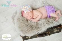 Rüschenhöschen für Neugeborene-2 Monate FLIEDER