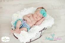 Rüschenhöschen MIT BEINCHEN Ab Geburt- ca. 3-4  Monate AQUA-FLIEDER