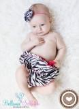 Satinrüschenhose ZEBRA-PINK Ab Geburt- ca. 1 Jahr