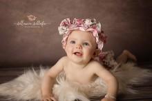 SATIN newborn Neugeborenen Mützchen im BLUMENMIXDESIGN