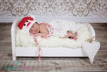 Newborn Mützchen ab Geburt Baby Mütze Rotweißes Äffchen