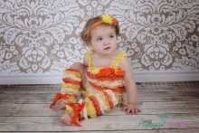 SET15 3er SET Baby- KLEINKIND ab Geburt- ca. 1 1/2 Jahren ORANGE GELB WEISS