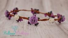 Blütenkranz LILA mit lila und weißen ROSEN