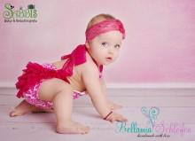 NEU!! JUMPER in Damask weiß-pink für Baby-Kleinkind