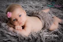 Spitzenhöschen für Neugeborene- 2 Monate SILBERGRAU