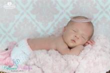 SPITZENKRONE  ALTROSA ca. 1,3cm hoch Newborn Babykrönchen