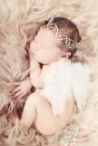 Federflügelchen  für Newborn Babys und Kleinkinder WEISS
