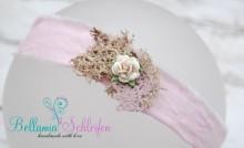 NHB4 Haarband Stirnband mit ECHTEM MOOS Baby - Erwachsener