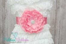 NEU!!! BLÜTENGÜRTEL Bauchschleife Schwangerschaftsgürtel Kindergürtel Blumen Gürtel ROSA