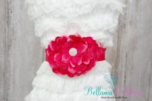 NEU!!! BLÜTENGÜRTEL Bauchschleife Schwangerschaftsgürtel Kindergürtel Blumen Gürtel HOTPINK