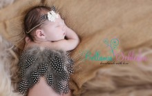 Federflügelchen  mit passendem Haarband als SET!!!