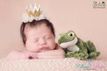 Tüllkrönchen GOLD Baby Neugeborenes Newborn Krone