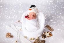 Weihnachten Christmas Newbornmütze Little Snowman UNISEX