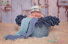 NEU!!! JUNGEN NEWBORN KAPPI blau-kariert-babyblau