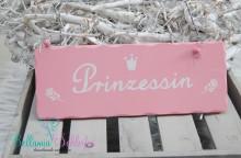 NEU!!! HOLZ-SCHILD Prinzessin  GROSS! 24 cm x9 cm