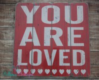 Neu!!! HOLZSCHILD GROSS 40*2*40cm YOU ARE LOVED SHABBY CHIC