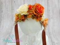 NEU!!! BLÜTENKRANZ mit GROSSEN Blüten  ORANGE-TÖNE