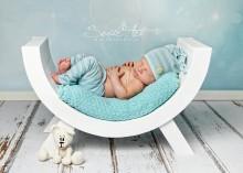 NEU!!! Kurven HOCKER für Newborns und Kleinkinder WEISS 56 x 35 x 28