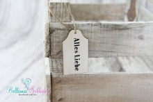 NEU! Holzschildchen für Geschenke oder Bilderzugabe