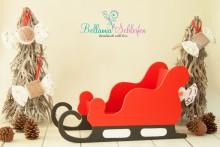 NEU!!!! HOLZ SCHLITTEN Weihnachtsschlitten ab Babybis Kleinkind HANDARBEIT