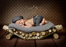 NEU!!! BIRKENHOLZ-BOOTSCHALE echtes Holz für die Babyfotografie