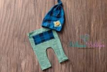 NEU!!! Jungen Newborn Set kräftige Farben tealgrün und blau/kariert