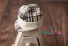 NEU!!! cremeweiß-grau karirierte Newborn Kappi Mütze
