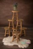 NEU!!! MINI HOCKER 15 x 17 cm jeder ein Unikat. Echtholzhocker mit drei Beinen