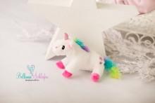 NEU!!! MINI Stofftierchen RAINBOW UNICORN  Einhorn zum beilegen von Newborns ( CE geprüft!)