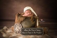 NEU!!! LANGE(!) Zipfelmütze für Neugeborene creme/braun