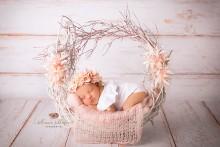 Wunderschöner Pastellfarbener Blütenkranz Newborn bis Erwachsener