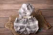 NEU!! luftig leichtes Set aus Kappi und Matzhose mit kurzen Beinchen für Newborns
