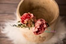 Vintage Blumenstrauss in rotgrün Tönen